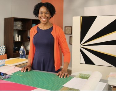 Nicole poses for Fresh Quilting TV