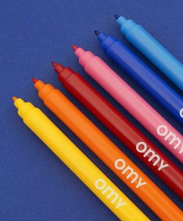OMY washable felt tip pens