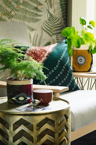 fabric plant pot covers and cushions by Osime Home