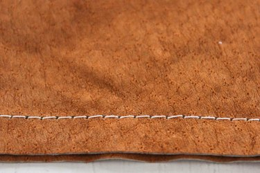 stitches on leather