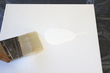 brush on white paint