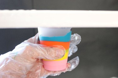 canvas on top of cup