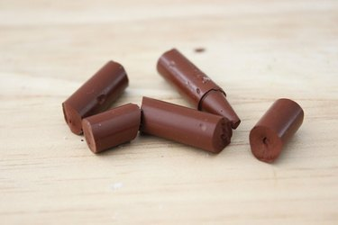 brown crayon