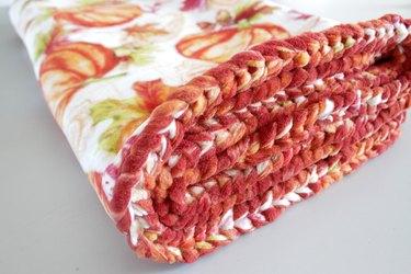 DIY Braided Fleece Blanket
