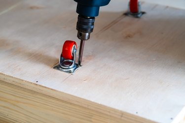 Castor wheels and electric drill