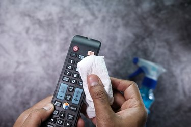 cleaning remote control