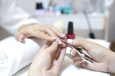 Beauty manicure procedure