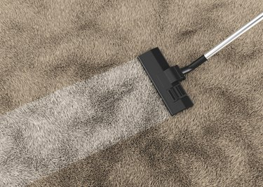 Cleaning carpet 3d rendering