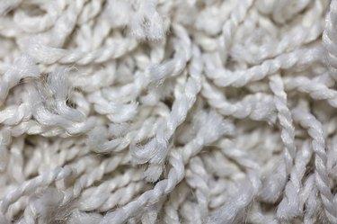 Retro White Shag Carpet