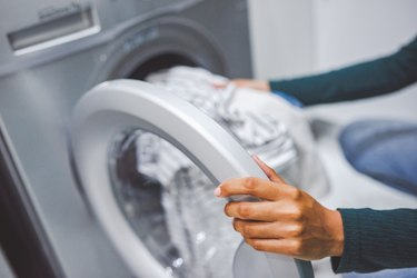 Removing clothes from washer
