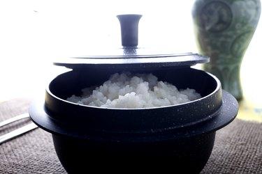 Korean rice in hot pot