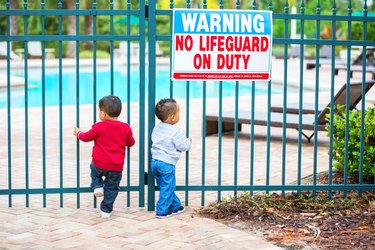 Boys try to get into locked pool