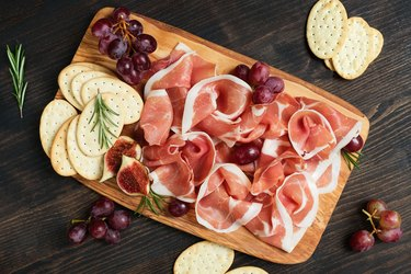 Italian bacon prosciutto crudo