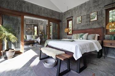 Luxury tropical resort bedroom