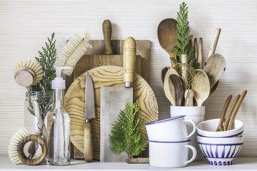 A Serene Zero Waste Kitchen Scene Close-Up