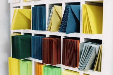 Colored mail envelopes