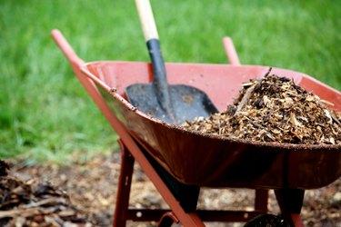 landscape mulch yard work