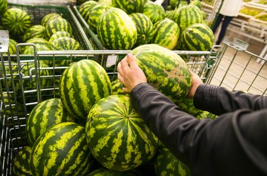 Watermelons at grocery store