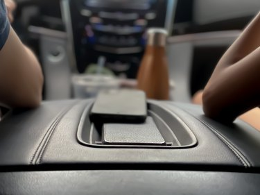 Cellphones on car console