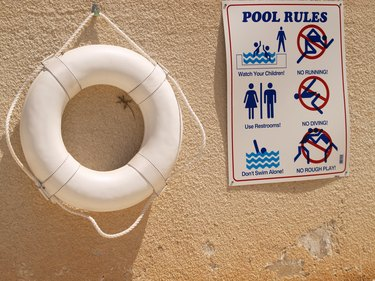 pool safety rules on wall