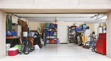 Inside of an organized garage