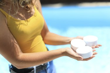 Chlorine treatment for a swimming pool