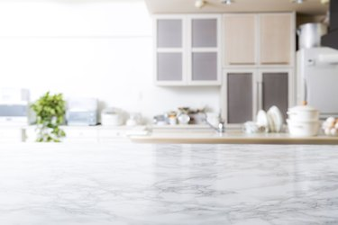 Kitchen background-marble table
