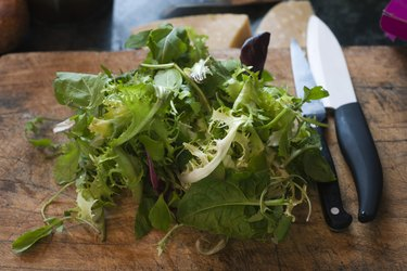 Mesclun and assorted greens
