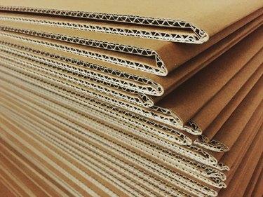Full Frame Shot Of Corrugated Cardboards