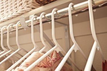 Shirts hanging on rack