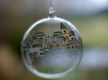 Christmas Glass Ball Ornament
