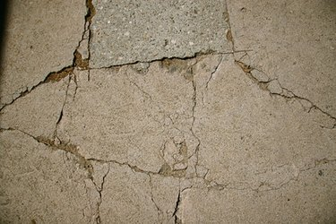 Concrete street cracks