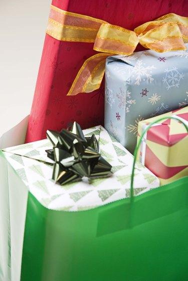 Bag of Christmas presents