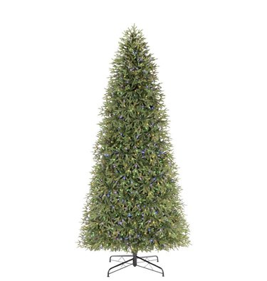 12 foot pre lit artificial christmas tree color changing