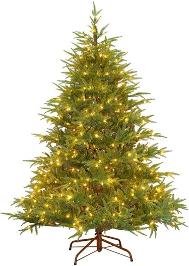 pre lit artificial christmas tree frasier grande