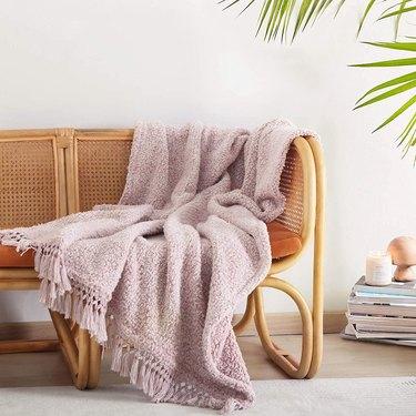 boho throw blanket with tassels
