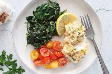 Garlic butter cod recipe
