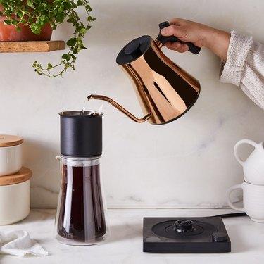 copper gooseneck electric kettle