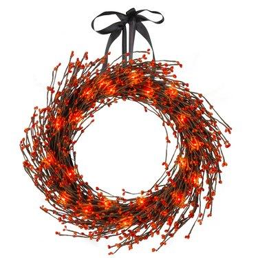 16-Inch Light Dried Decorative Fall Wreath