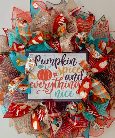 DIY Pumpkin Spice and Everything Nice Wreath Kit by SmallTownGirlWreaths
