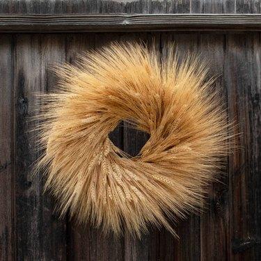 18-Inch Dried Fall Wheat Wreath