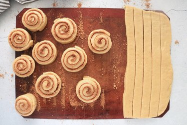 Roll dough into pinwheels
