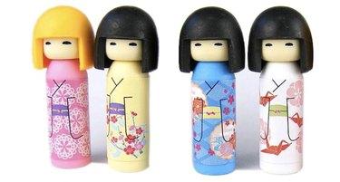 Kokeshi doll erasers