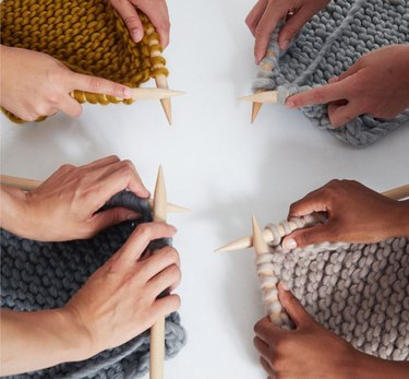 Four knitters