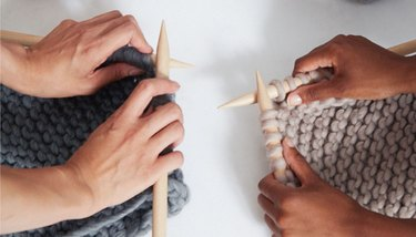 Knitting with eco friendly wool