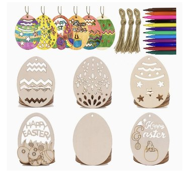 Wooden Hanging Ornaments Kit Image