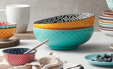 printed porcelain bowls and plates