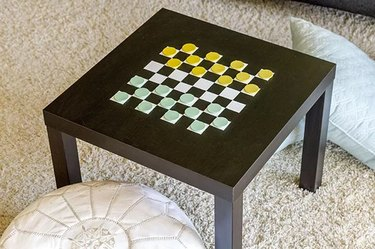 checkerboard painted table