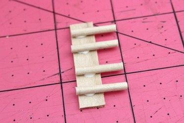 wood rake tines