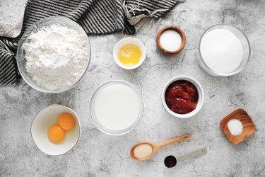 Ingredients for paczki